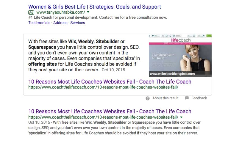 websites for life coaches